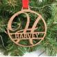 Personalised Name Hoop Wooden Keepsake Bauble