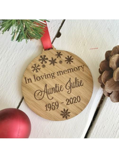 Personalised In Loving Memory Christmas Bauble