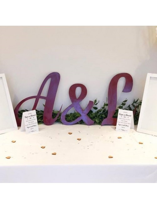 Personalised Wedding Initial Letters