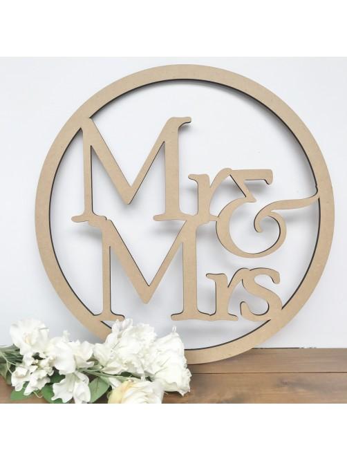 Large Mr & Mrs Hoop Wedding Wall Hanging Hoop