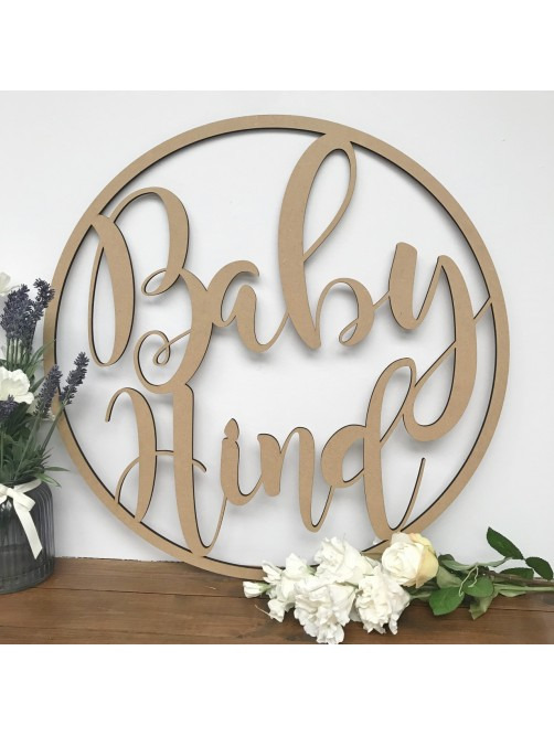 Large Personalised Hoop Baby Shower Decor