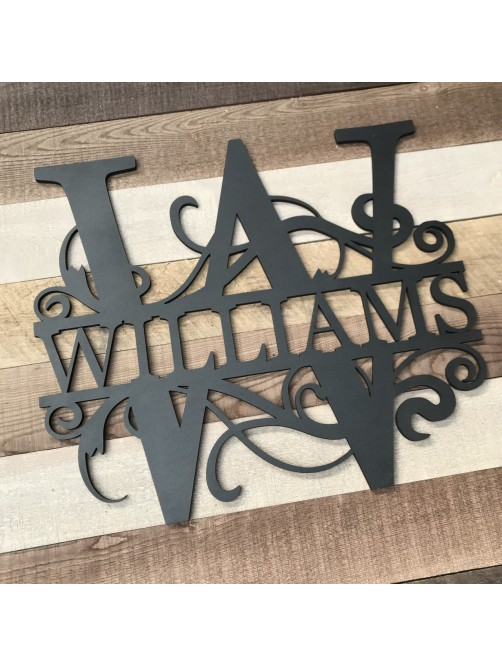 Large Personalised Letter With Surname Wall Sign