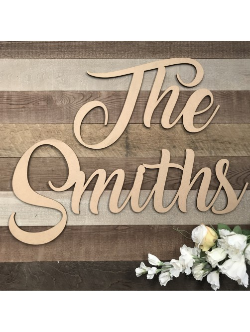 """Large The """"Your Surname"""" Wedding Wall Sign"""