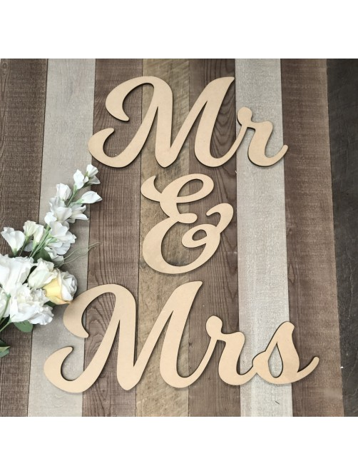 Mrs & Mrs Wall Hanging Event Sign