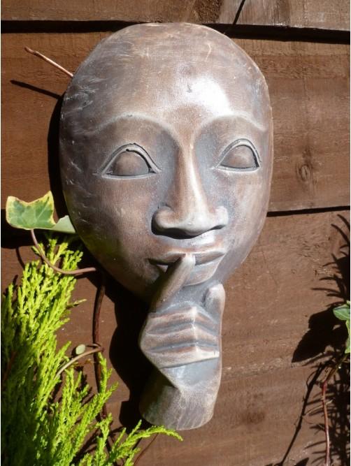 Beautiful Rustic Whisper Face Garden Wall Hanging