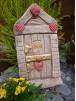 Love Heart Fairy Door With Two Windows