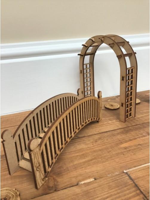 Fairy Bridge, Archway & Stepping Stones Door Accessories