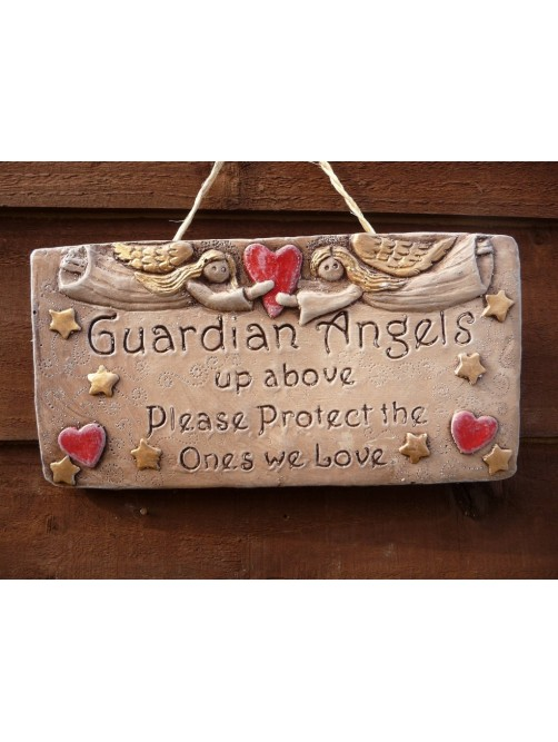 Guardian Angels Up Above Please Protect The Ones We Love Plaque