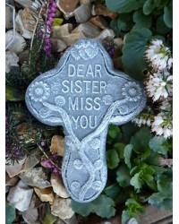 Dear Sister Miss You Memorial Plaque
