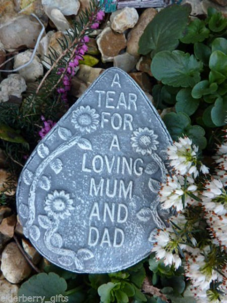 A Tear For A Loving Mum & Dad Plaque
