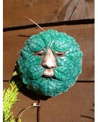 Round Green Man Garden Wall Plaque