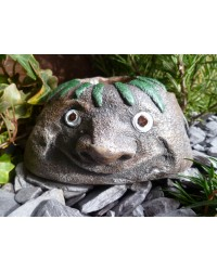 Cute Rock Face Candle Holder