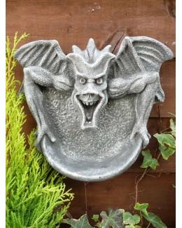 Gothic Gargoyle Wall Hung Shelf Brushed Grey