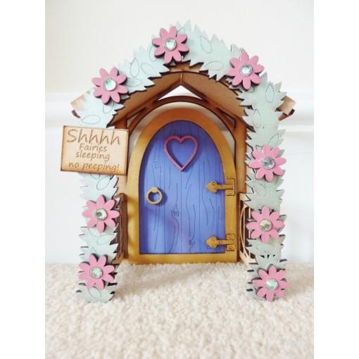 Purple shhhh fairies sleeping enchanted fairy door way for Purple fairy door