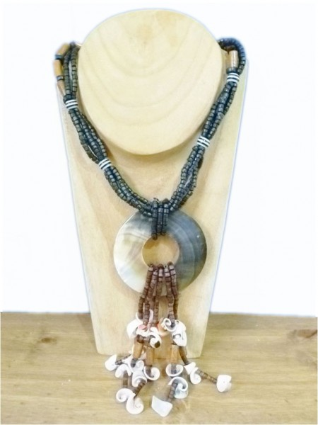Coconut & Shell Beaded Necklace