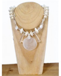 Cream & White Shell & Bead Necklace