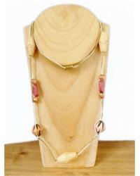 Long Cream Cord Necklace