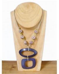 Purple Coconut Shell Necklace