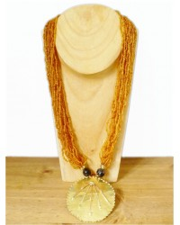 Ginger & Brass Beaded Necklace