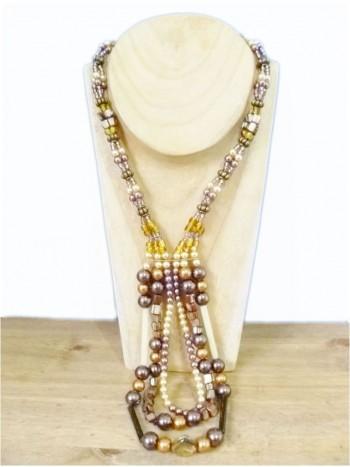 Stunning Metallic Cappuccino Necklace