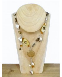 Long Gold Beaded Necklace