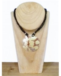 Black Bead & Shell Necklace