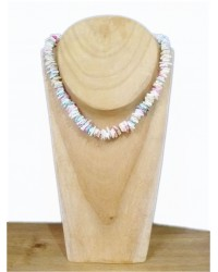 Pink & White Sweetie Bead Necklace